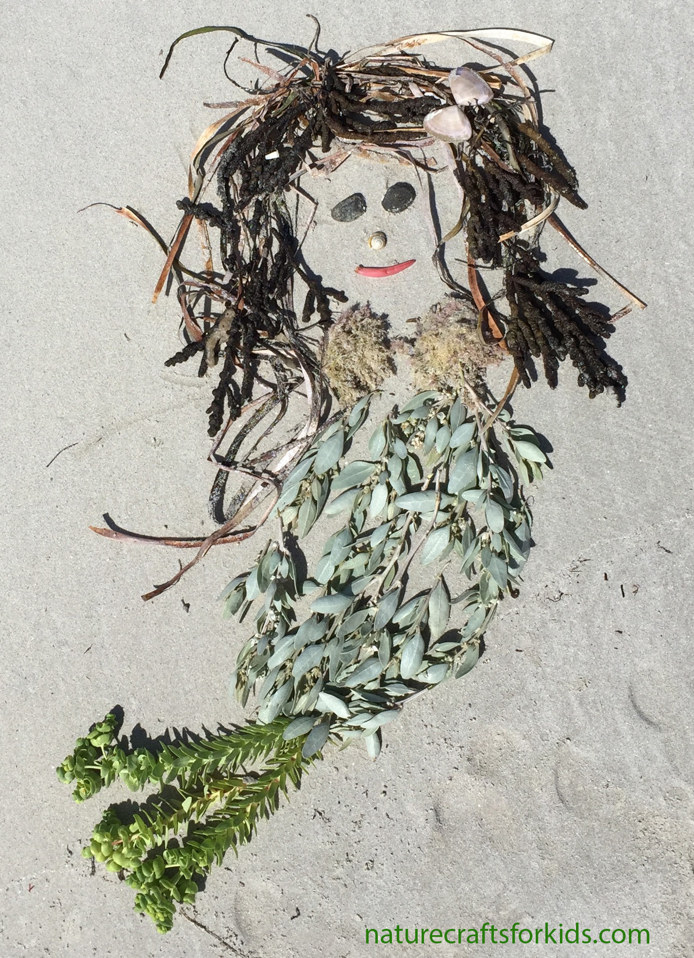 Seaweed-mermaid-land-art-nature-craft